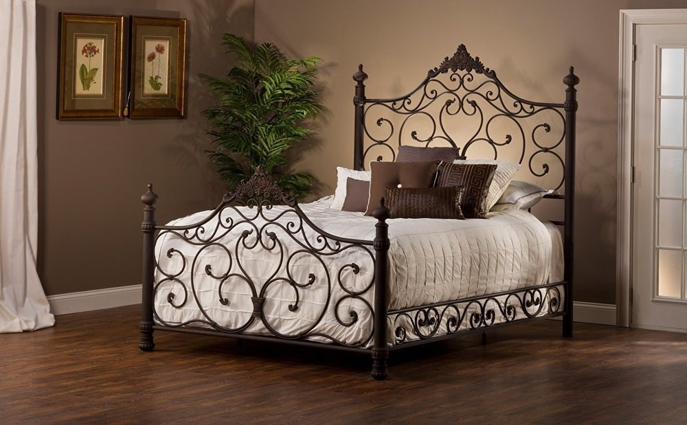 Antique Wrought Iron Queen Bed Frame
