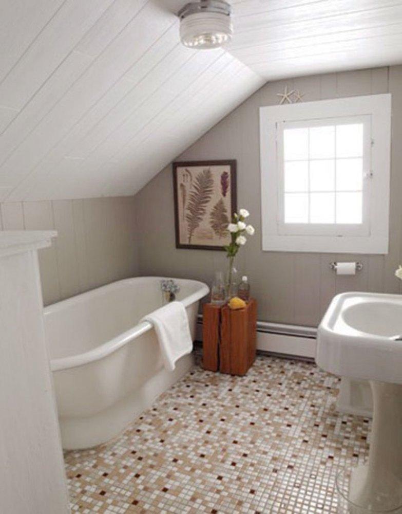 Attic Bathroom Ideas Sloped Ceiling