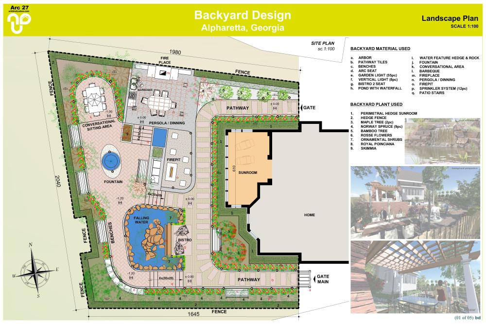 Backyard Landscape Design Plans
