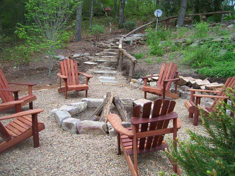 Backyard Landscape Ideas With Fire Pits