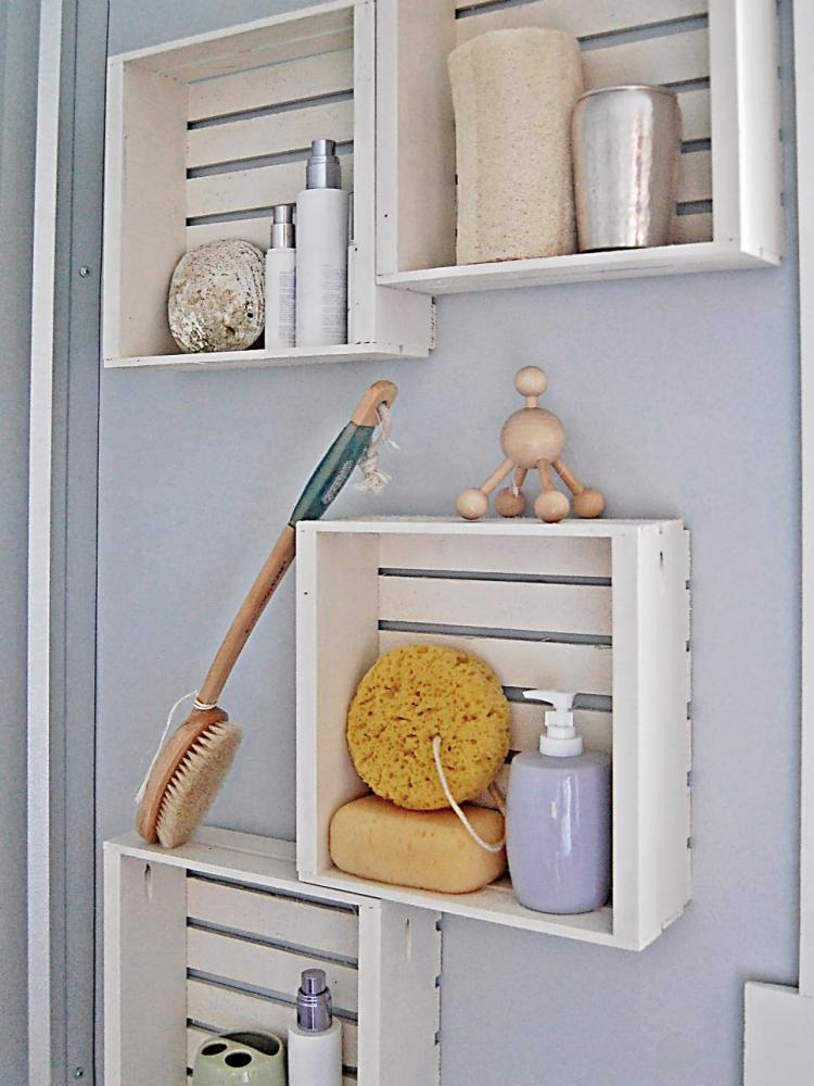 Bathroom Closet Shelves Ideas