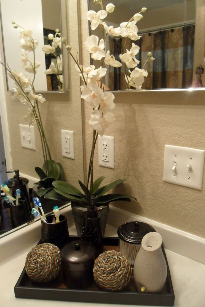 Bathroom Counter Decor Ideas Pinterest