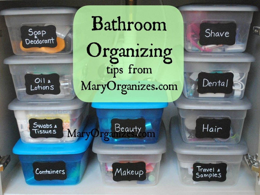 Bathroom Drawer Organizing Ideas