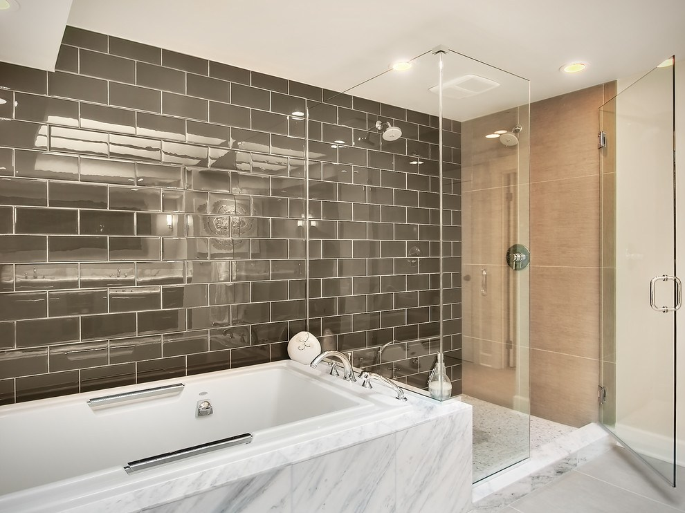Bathroom Shower Ideas With Subway Tile