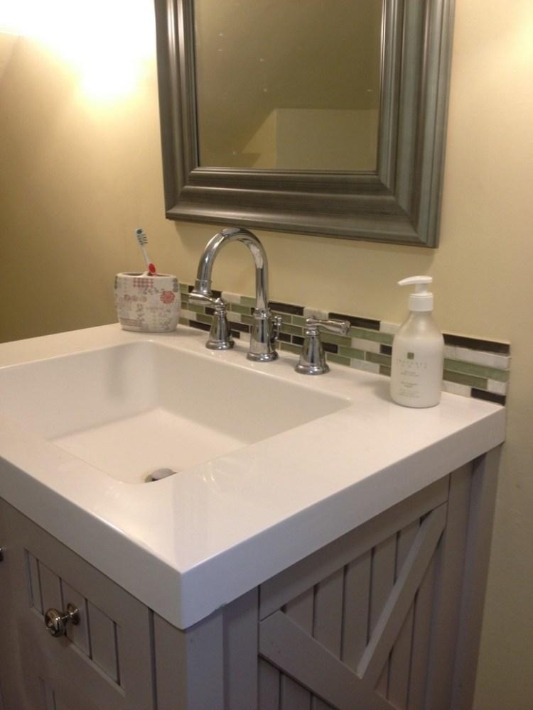 Bathroom Sink Backsplash Ideas