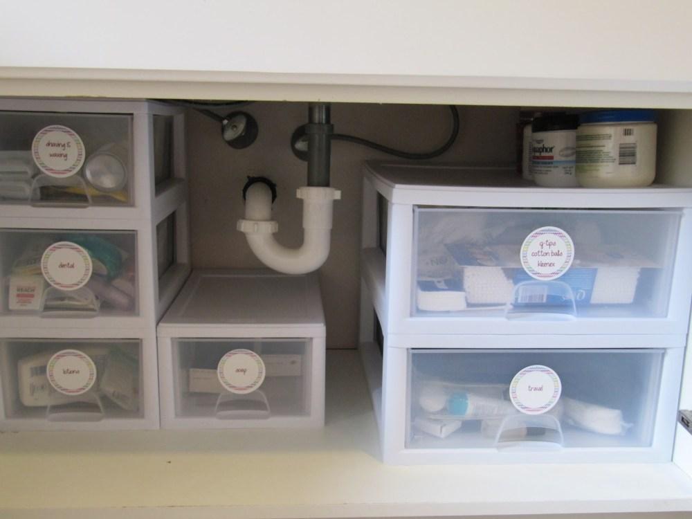 Bathroom Sink Cabinet Storage Ideas