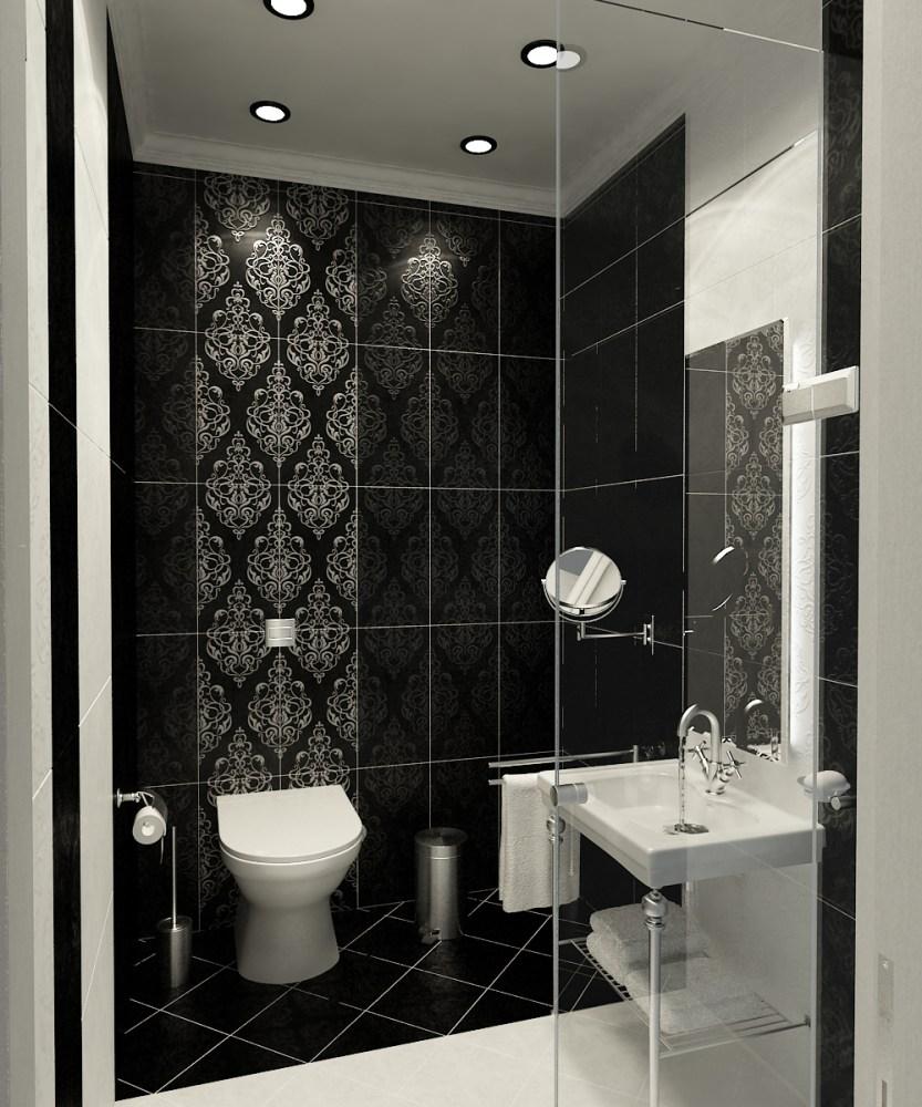 Bathroom Tile Design Ideas Black
