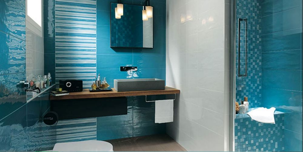 Bathroom Wallpaper Ideas Blue