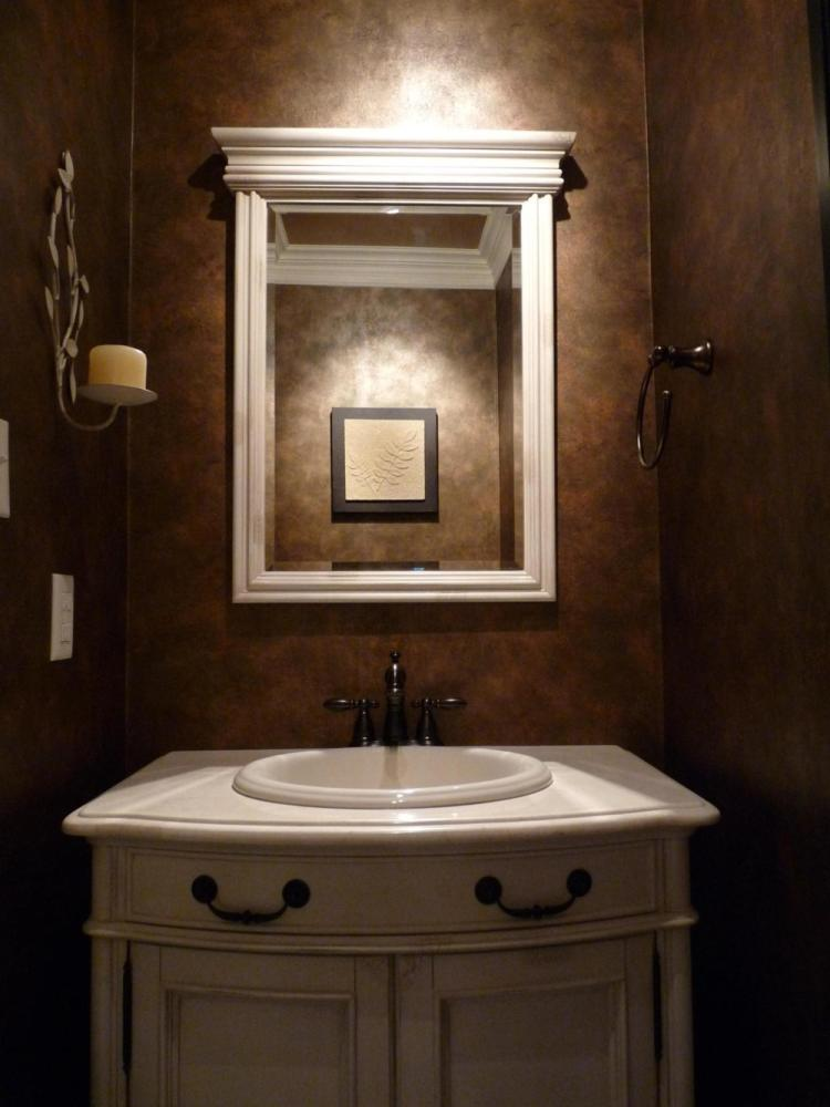 Bathroom Wallpaper Ideas Brown