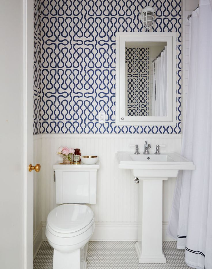 Bathroom Wallpaper Ideas Pinterest