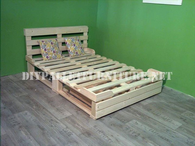 Bed Frame Made Of Pallets