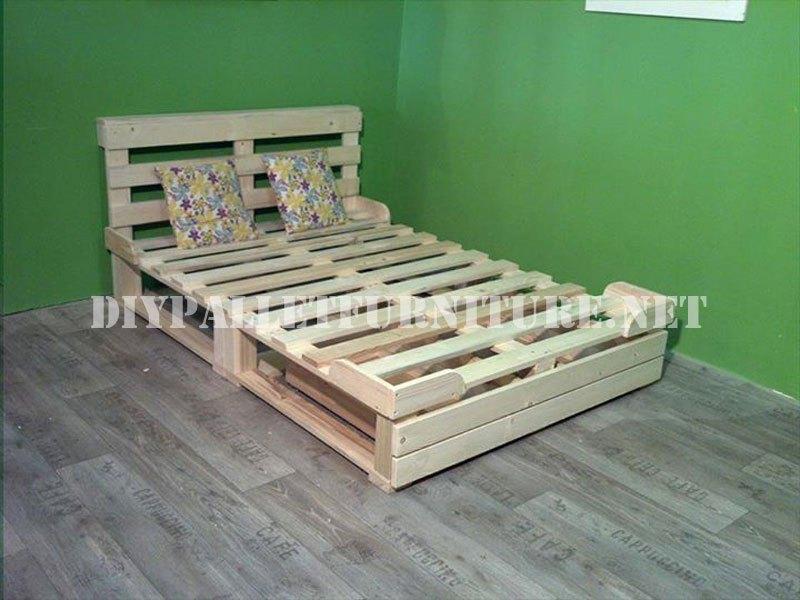Bed Frame Made Of Pallets