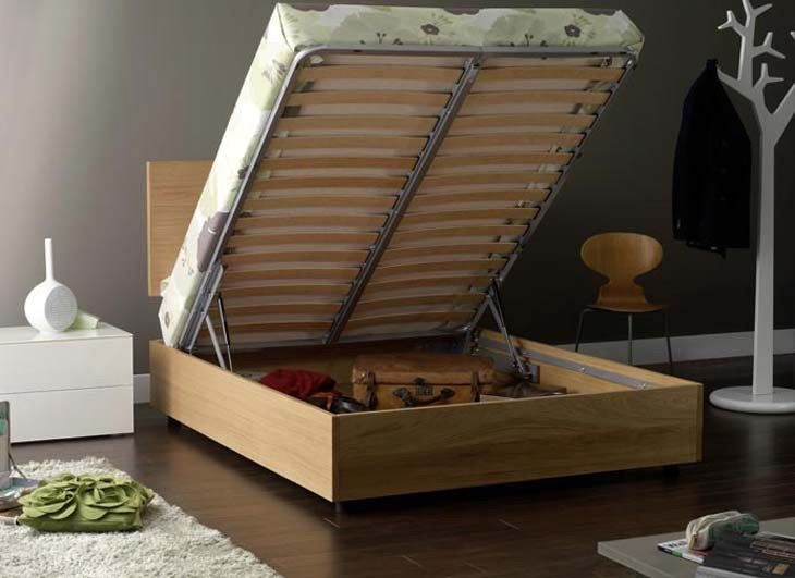 Bed Frame Platform Storage