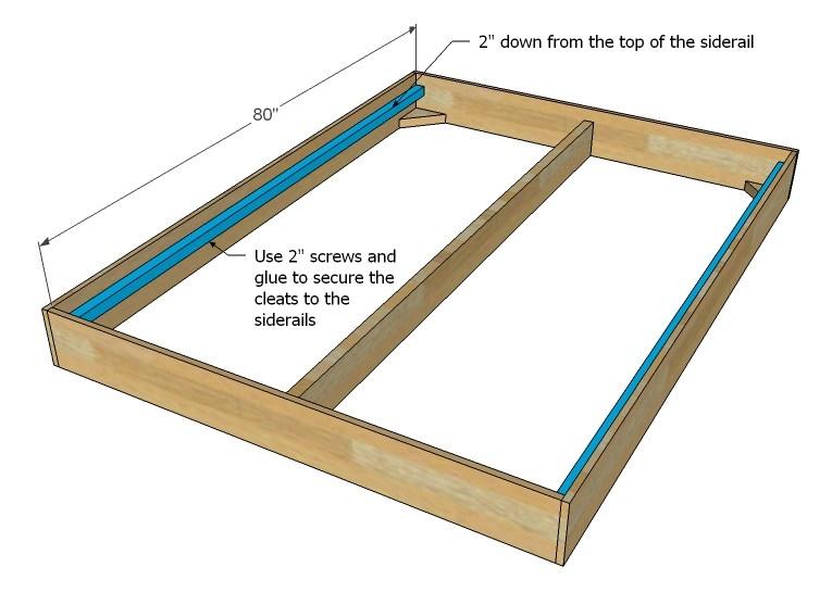 Bed Frame Rails King