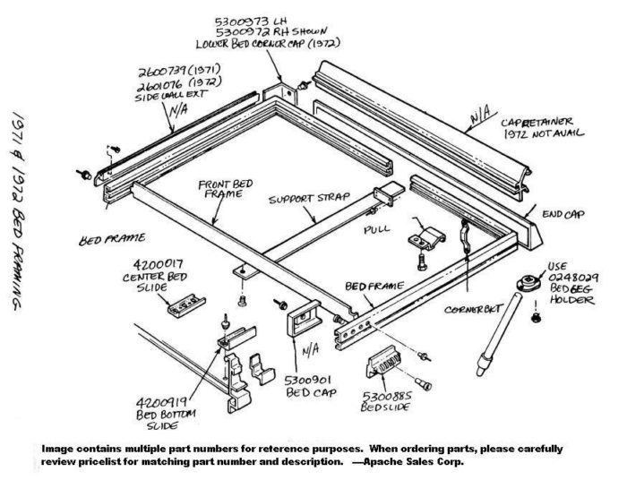 Bed Frame Replacement Parts