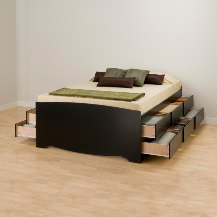 Bed Frame With Drawers No Headboard