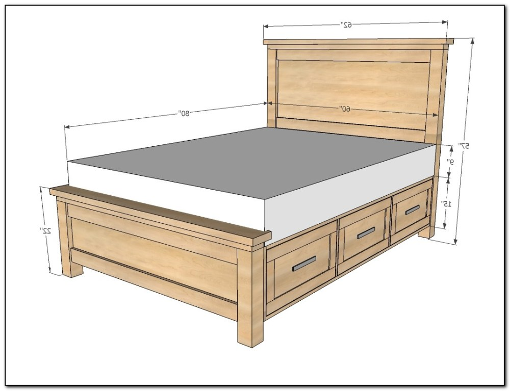Bed Frame With Drawers Queen Plans