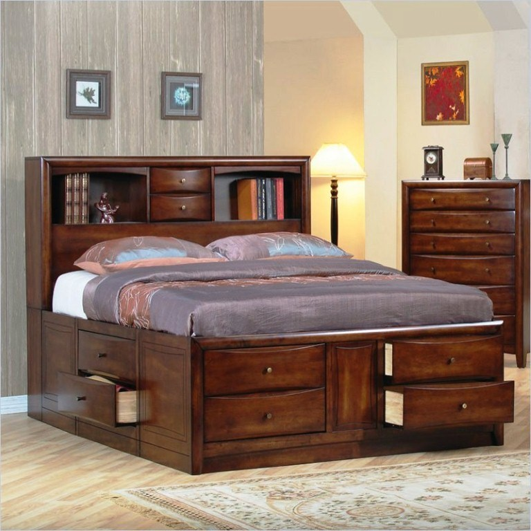 Bed Frame With Drawers Queen