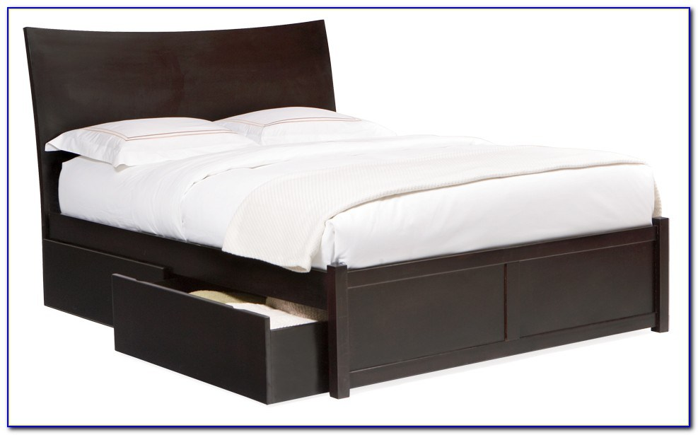 Bed Frame With Drawers Underneath Queen