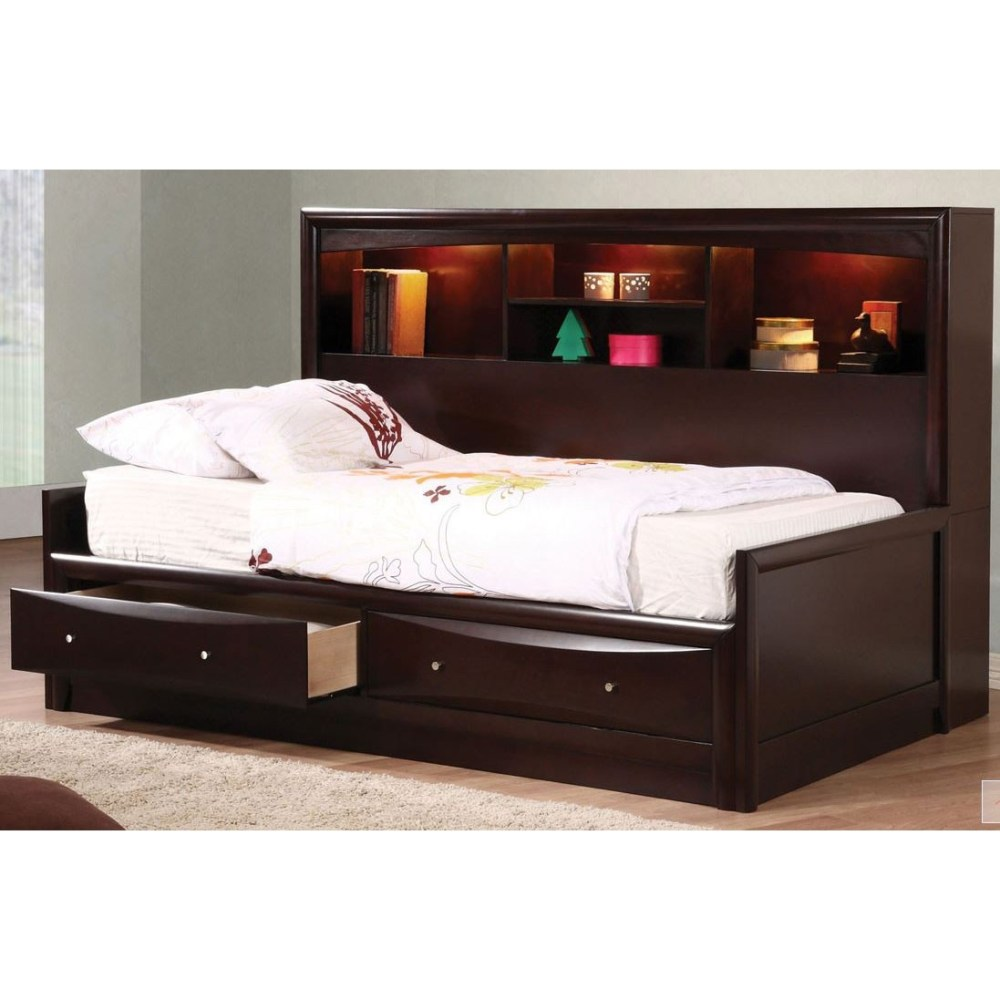 Bed Frame With Storage Headboard