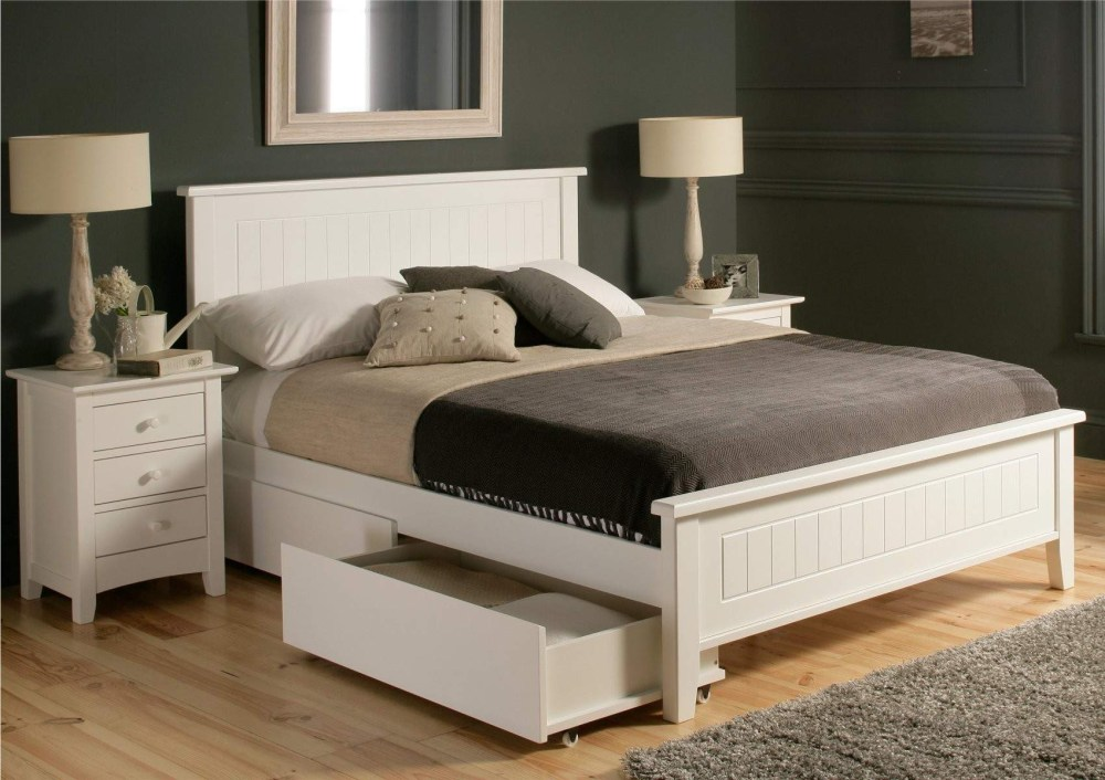 Bed Frame With Storage Queen Size