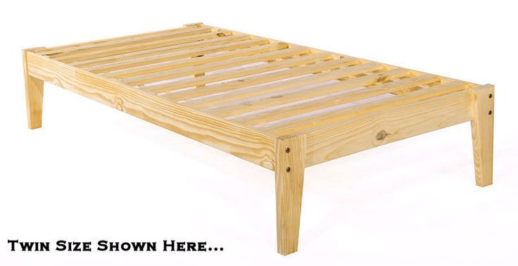 Bed Frame Wood Twin