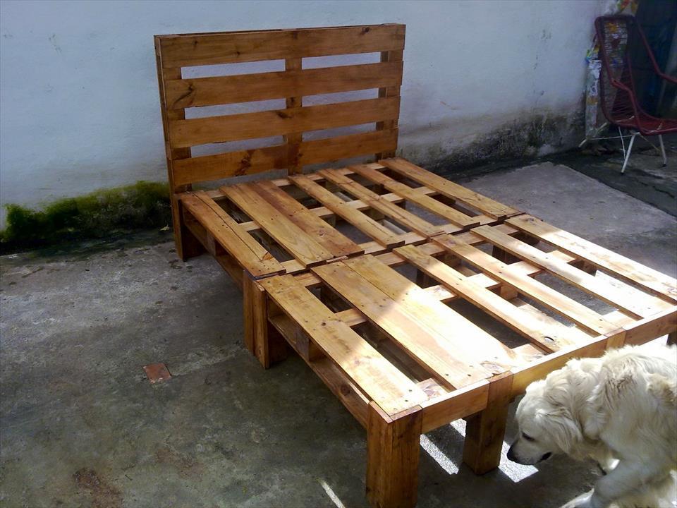 Bed Frame Wooden Pallets