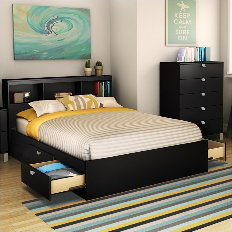 Bed Frames With Storage Headboard