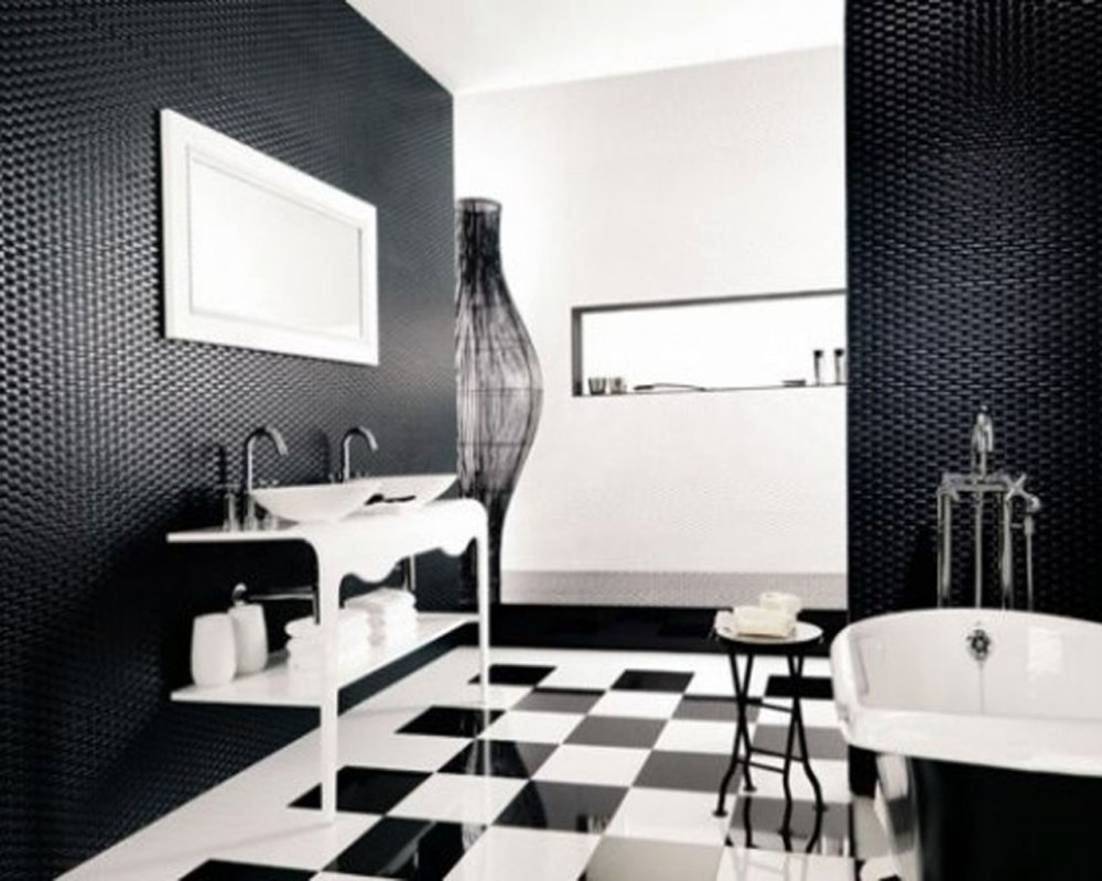 Black And White Bathroom Designs Photos