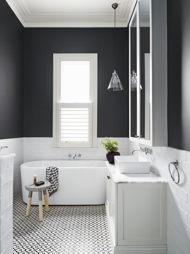 Black And White Bathroom Ideas Pinterest