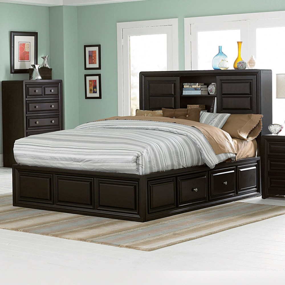 Black Bed Frame With Drawers