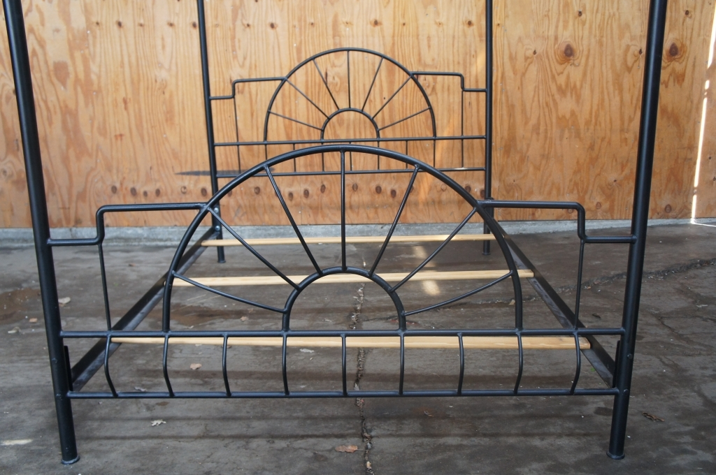 Black Canopy Full Size Bed Frame