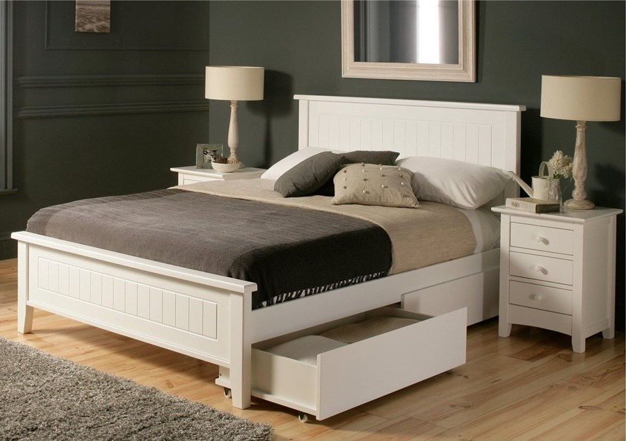 Black Full Size Bed Frame With Headboard