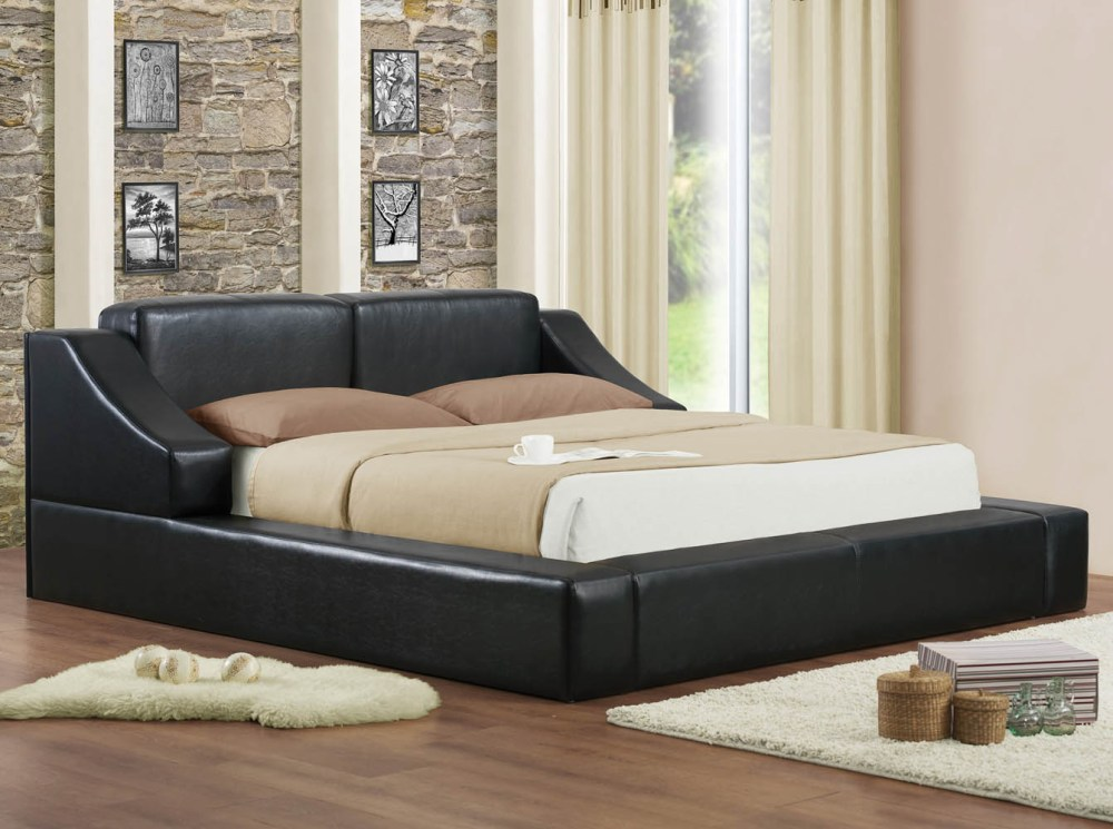 Black Full Size Platform Bed Frame