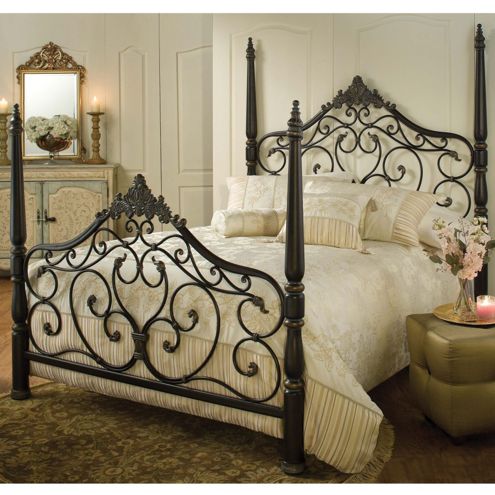 Black Iron Bed Frame Queen