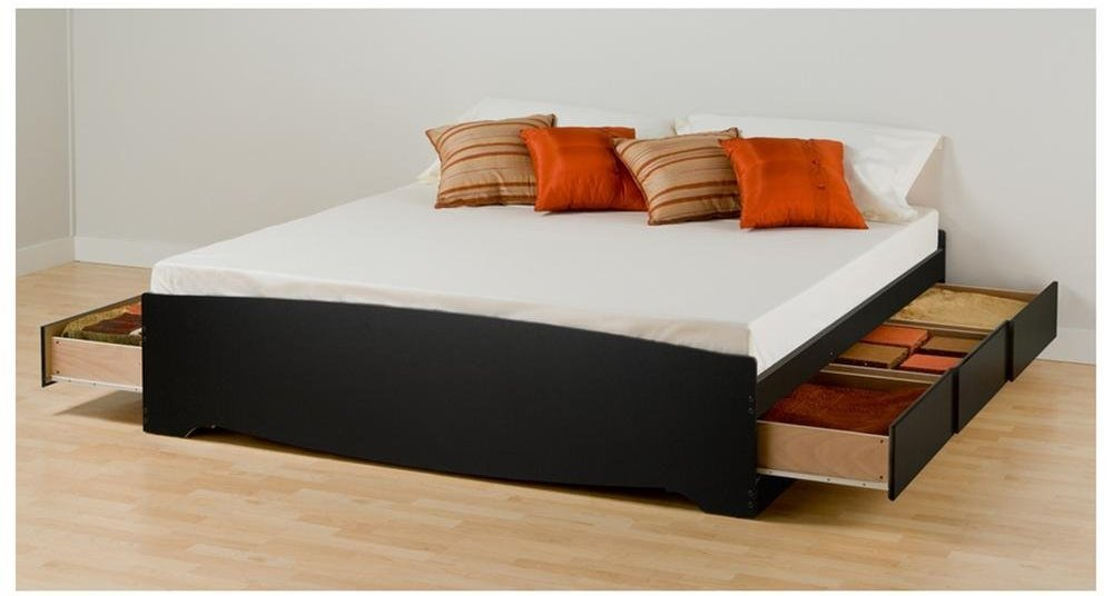 Black King Size Bed Frame With Storage