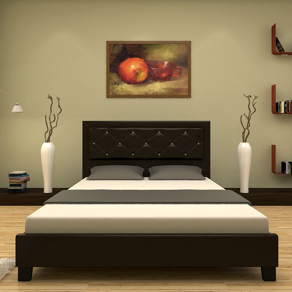 Black Leather Bed Frame Australia