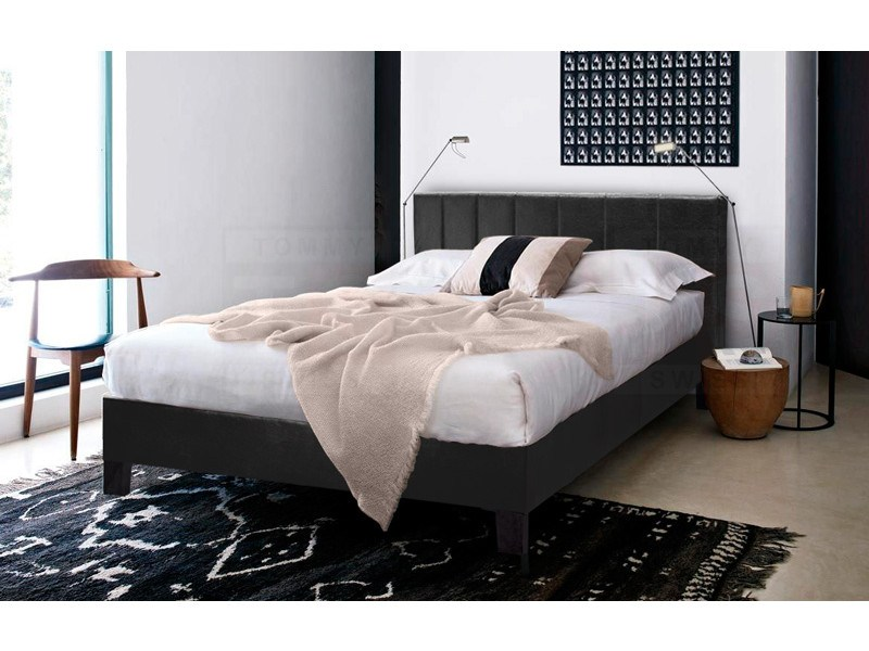 Black Leather Bed Frames King Size