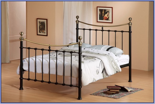 Black Metal Canopy Bed Frame Queen