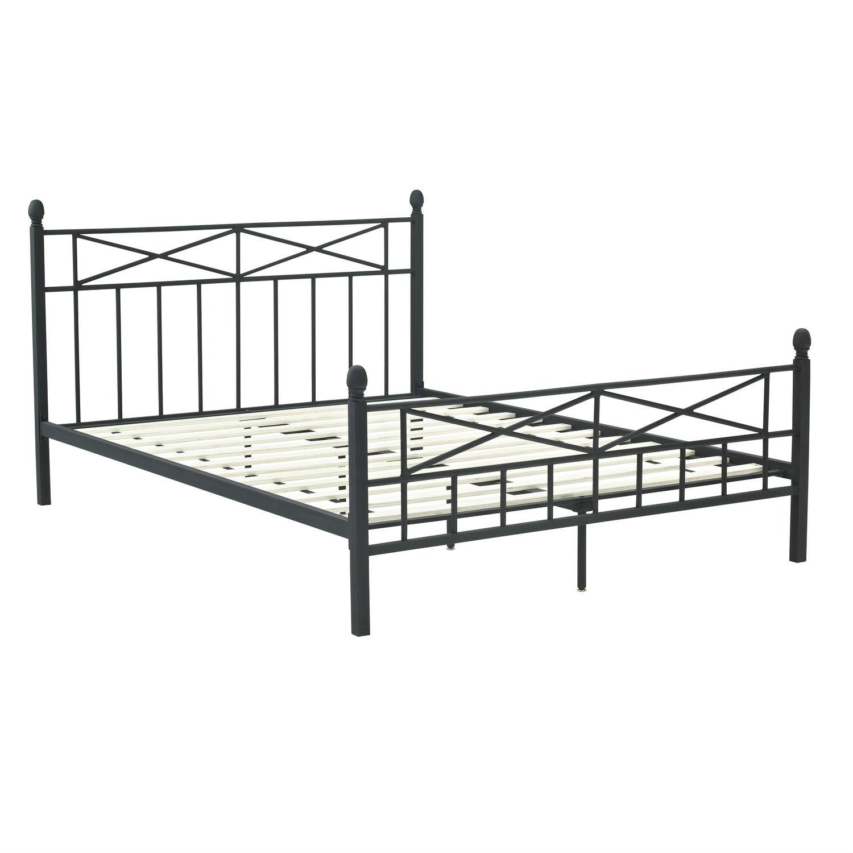 Black Metal Full Size Bed Frame