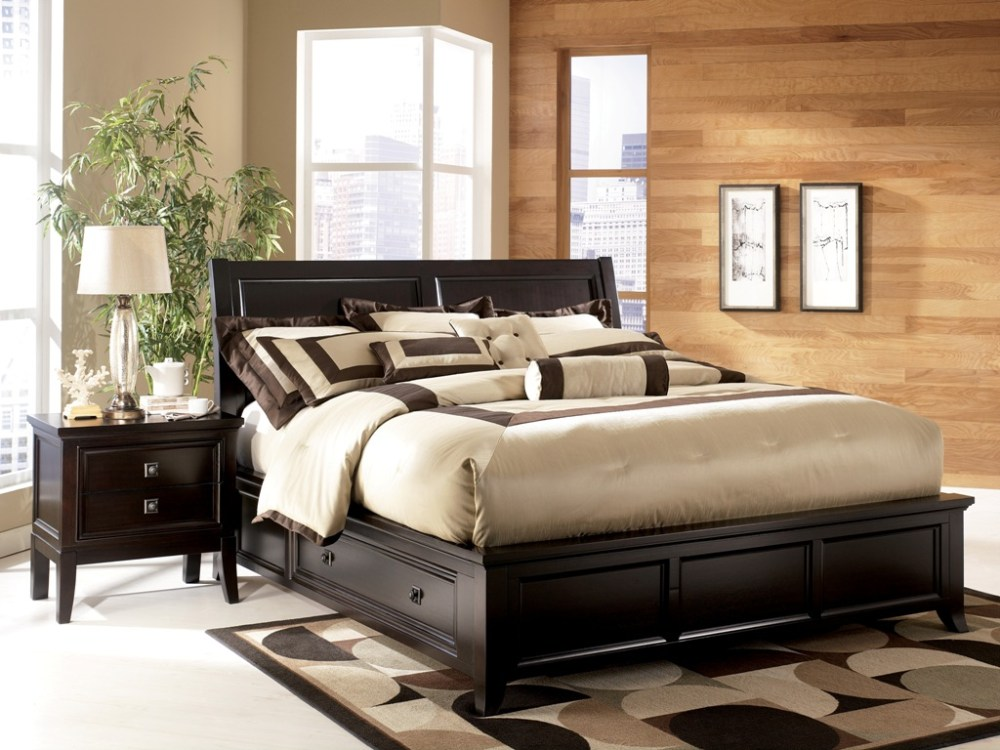 Black Platform Bed Frame King