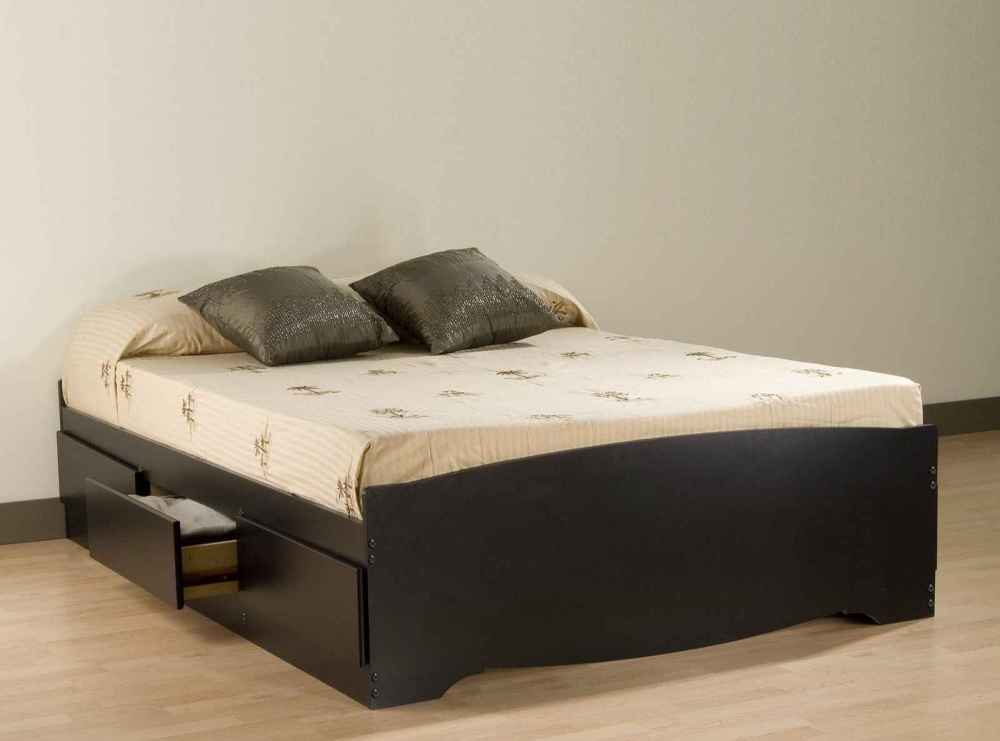 Black Queen Bed Frame With Drawers