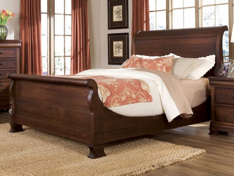 Black Queen Sleigh Bed Frame