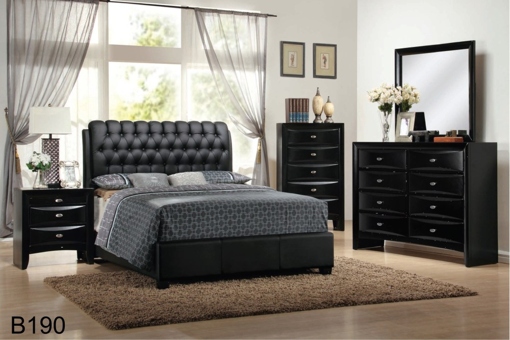 Black Tufted Bed Frame