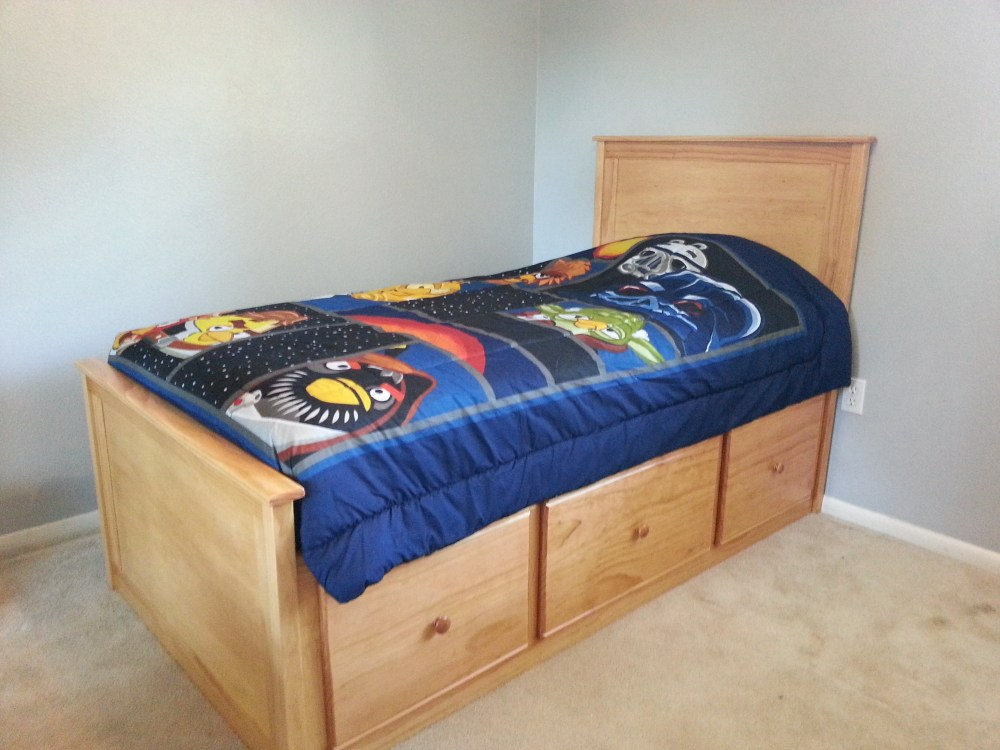 Black Twin Bed Frame With Storage