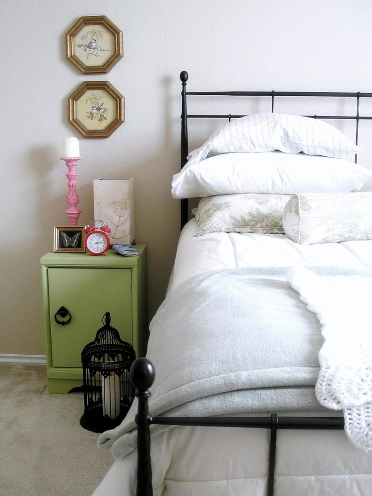 Black Twin Canopy Bed Frame