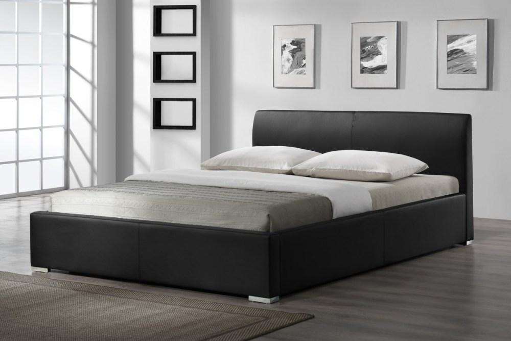 Black Upholstered Bed Frame