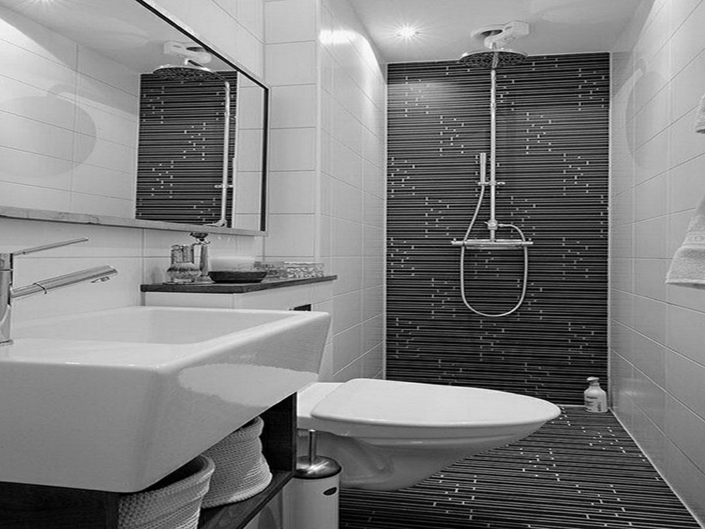 Black White Bathroom Tile Ideas