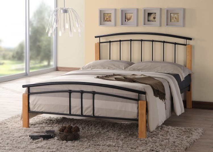 Black Wood Bed Frame King