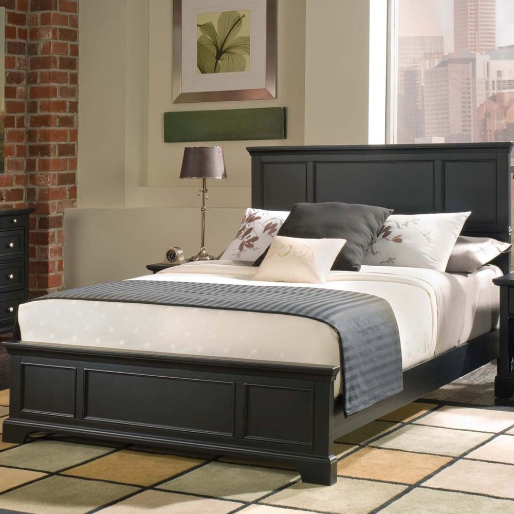 Black Wood Bed Frame Queen